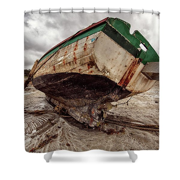 Boats By The Sea Shower Curtain