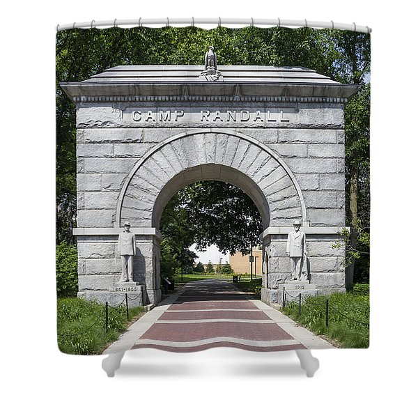 Camp Randall Memorial Arch - Madison Shower Curtain
