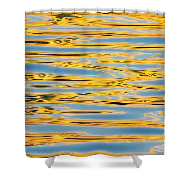 Color Lights On Water Reflection Shower Curtain