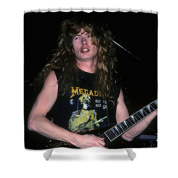 Dave Mustaine Of Megadeth Shower Curtain