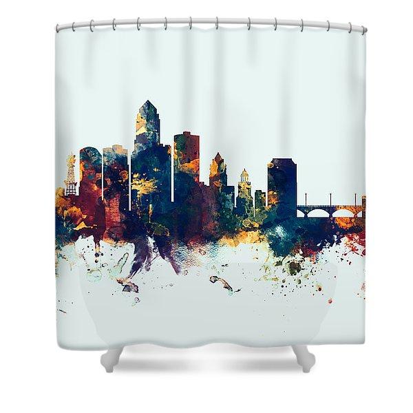 Des Moines Iowa Skyline Shower Curtain