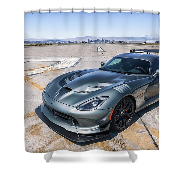 #dodge #acr #viper Shower Curtain
