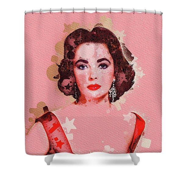 Elizabeth Taylor, Movie Legend Shower Curtain