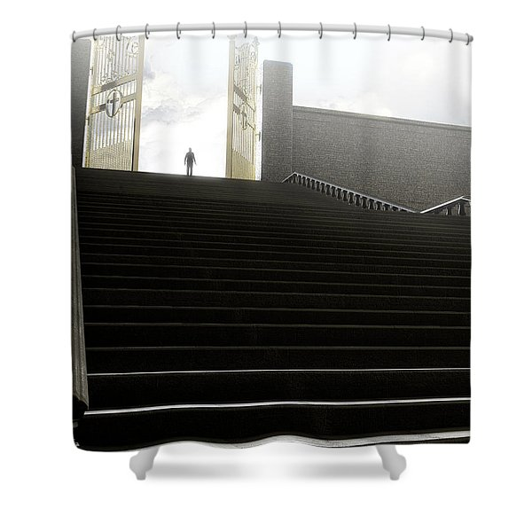 Heavens Gates And Silhouette Shower Curtain