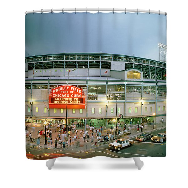 High Angle View Of Tourists Shower Curtain