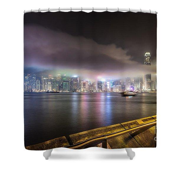 Hong Kong Stunning Skyline Shower Curtain