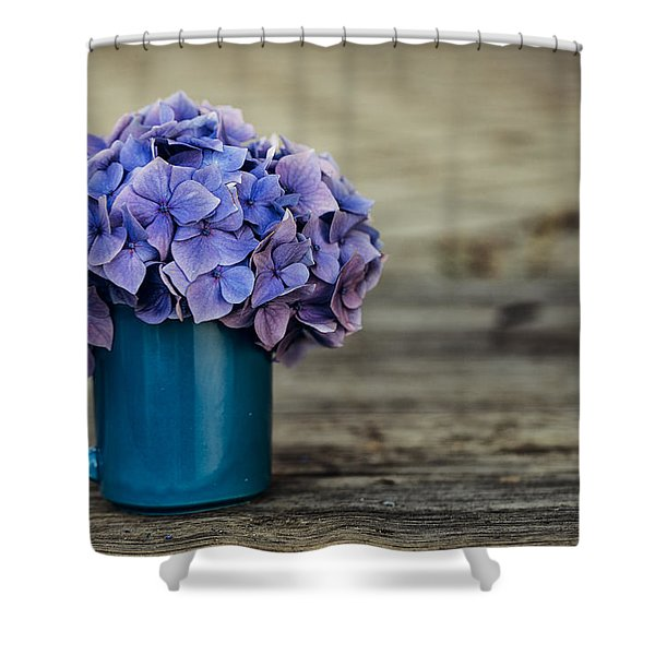 Hortensia Flowers Shower Curtain