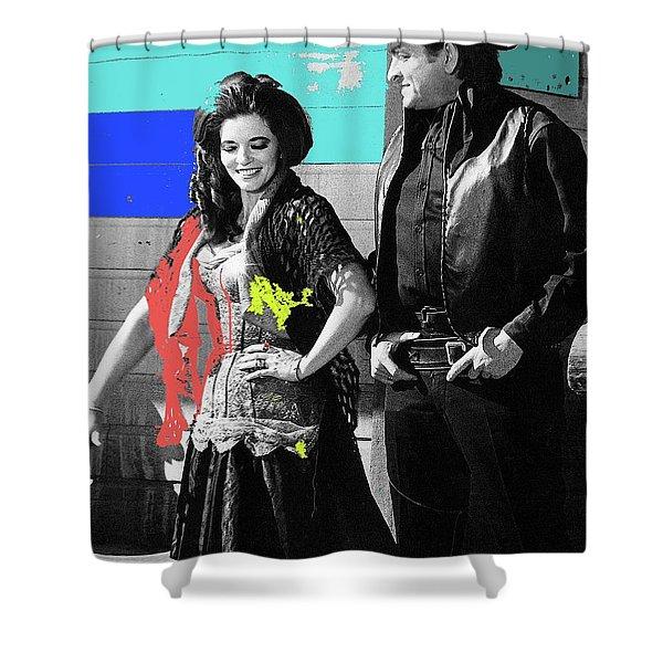 June Carter Cash Johnny Cash In Costume Old Tucson Az 1971-2008 Shower Curtain