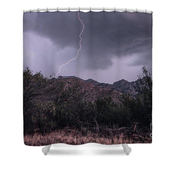 Lightning Shower Curtain