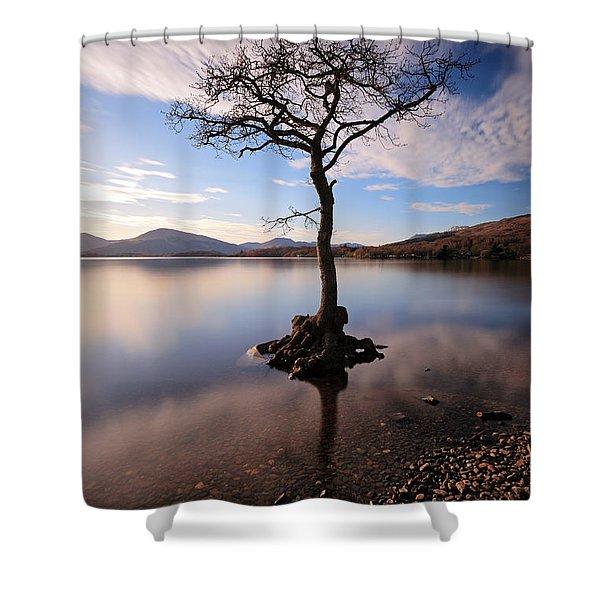 Loch Lomond Tree Shower Curtain