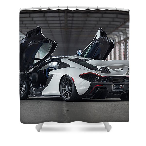 #mclaren #p1 #print Shower Curtain