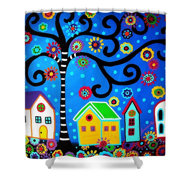 Mexican Town Shower Curtain