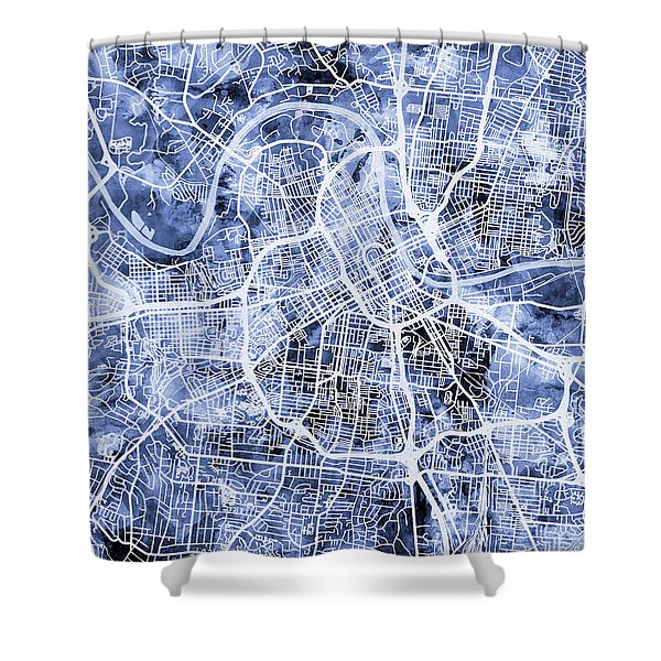 Nashville Tennessee City Map Shower Curtain