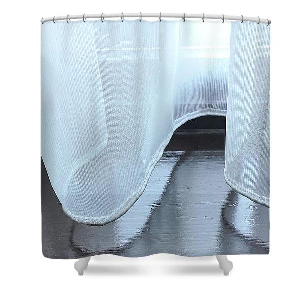 Net Curtain Shower Curtain