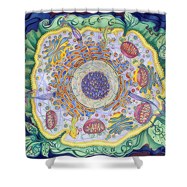 Ode To The Eukaryote Shower Curtain