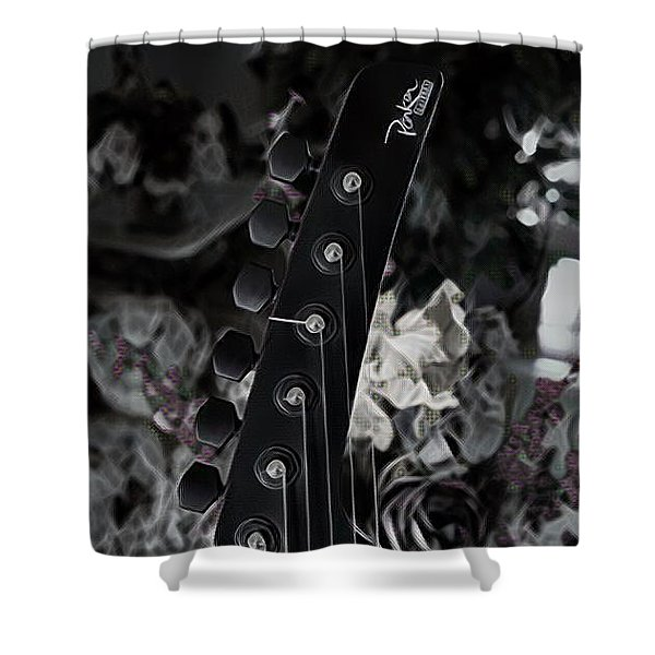Parker Fly Guitar Headstock Shower Curtain