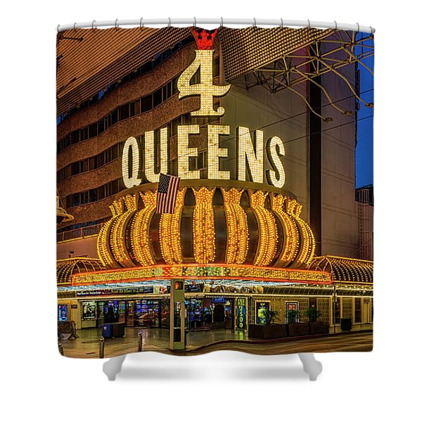 4 Queens Casino Entrance Shower Curtain