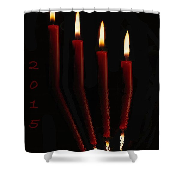 4 Reflected Candles Shower Curtain