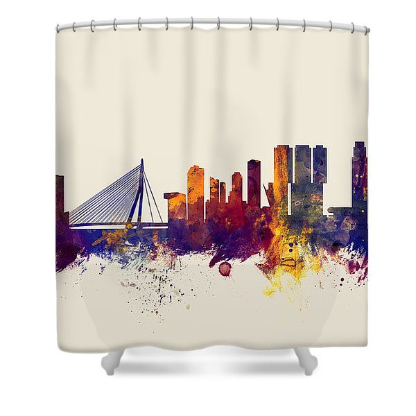 Rotterdam The Netherlands Skyline Shower Curtain