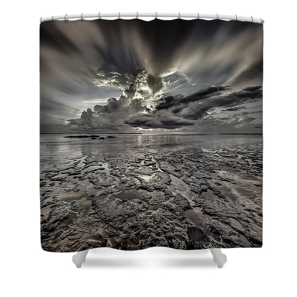 Seascape Of Hilton Head Island Shower Curtain