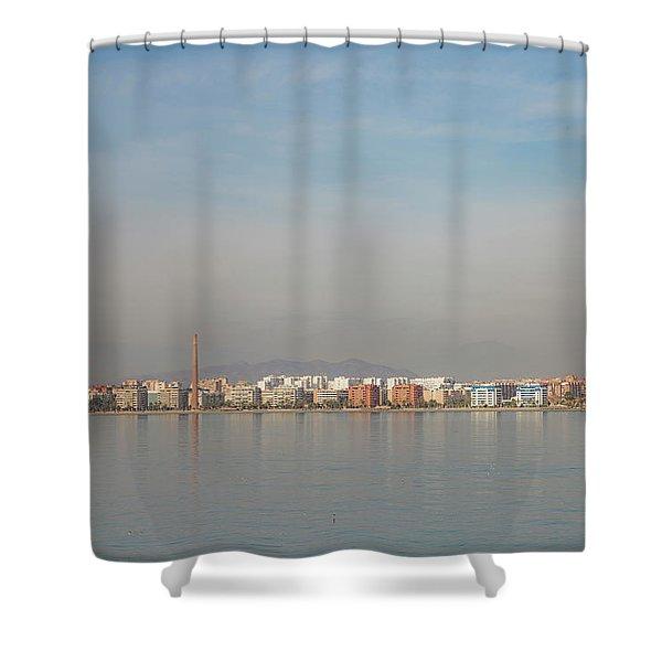 Shoreline Reflections Shower Curtain