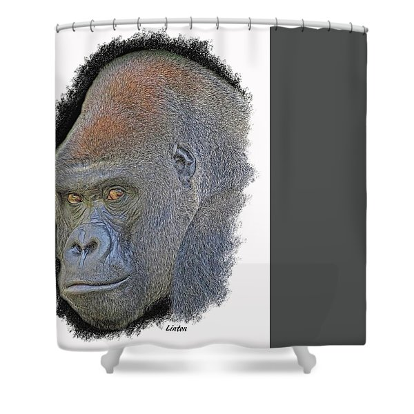 Silverback Shower Curtain