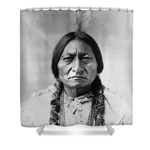 Sitting Bull 1834-1890. To License For Professional Use Visit Granger.com Shower Curtain