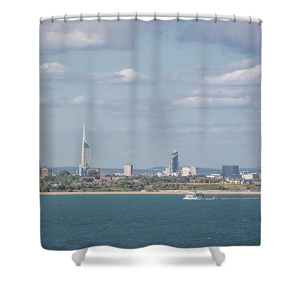 Spinnaker Tower Shower Curtain