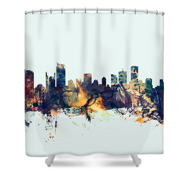 Vancouver Canada Skyline Shower Curtain