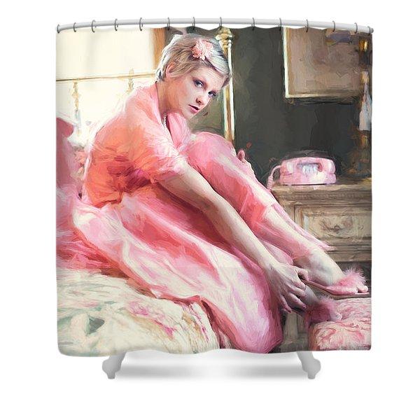 Vintage Val Bedroom Dreams Shower Curtain