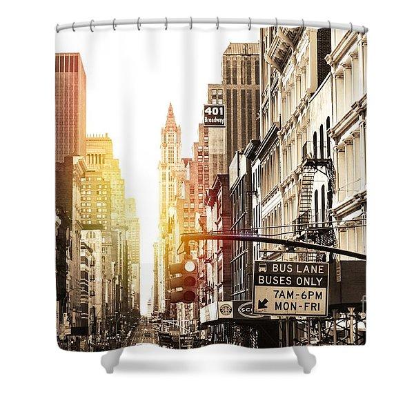 401 Broadway Shower Curtain