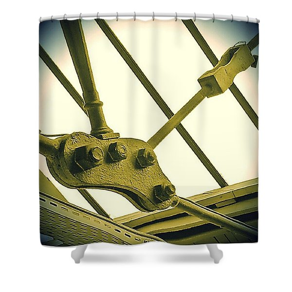 Bolted Shower Curtain