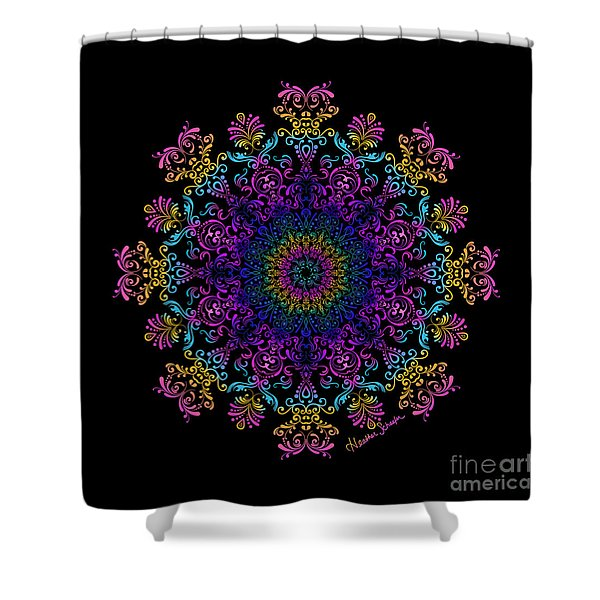 45 Degrees Of Separation Shower Curtain