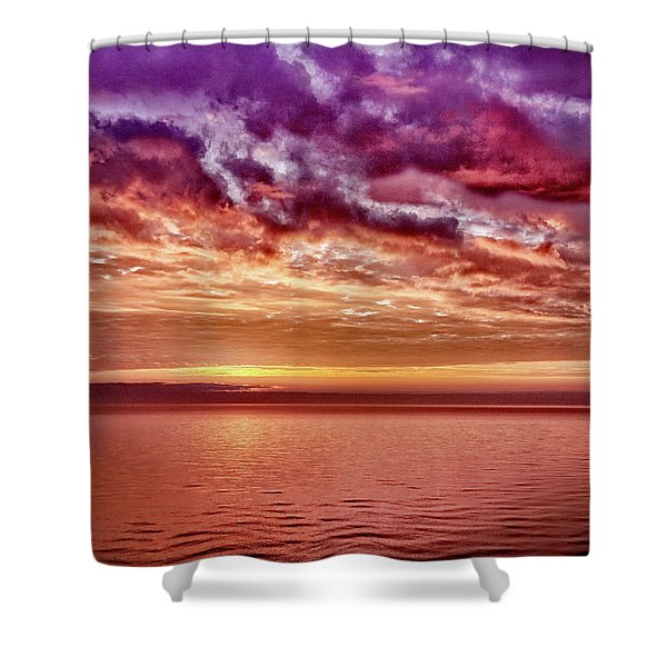 4th Of July Sunset Shower Curtain