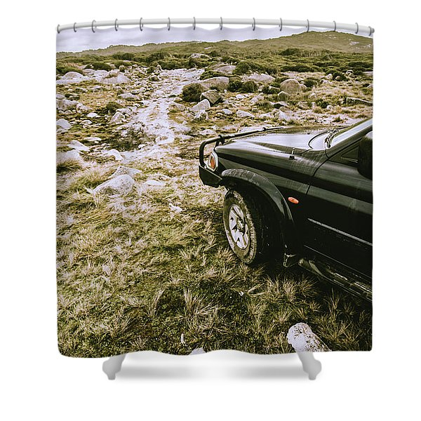 4x4 Tour Tasmania Shower Curtain