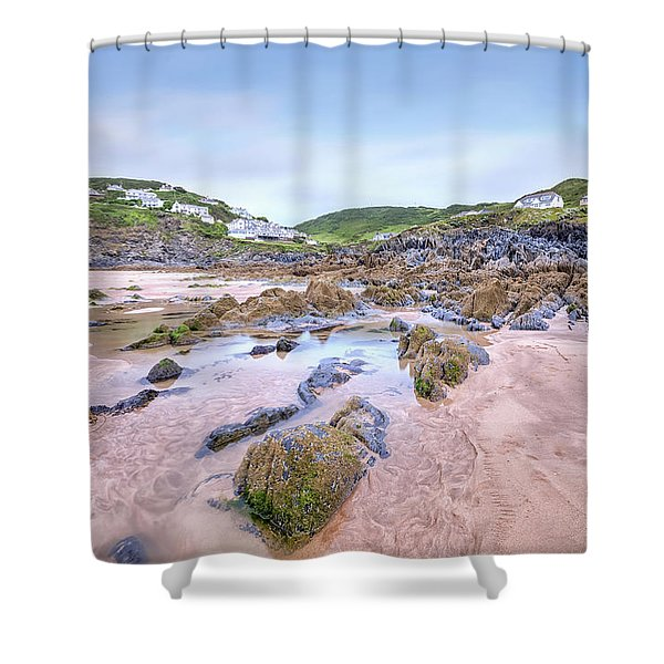 Barricane Beach - England Shower Curtain