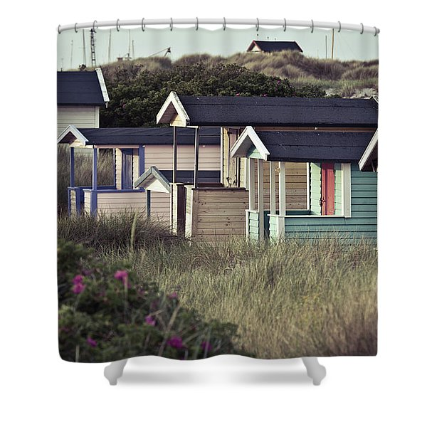 Beach Houses And Dunes Shower Curtain