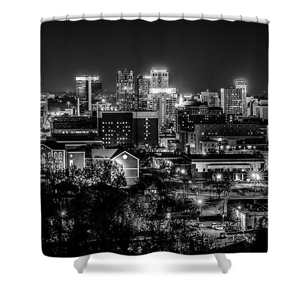 Birmingham Alabama Evening Skyline Shower Curtain