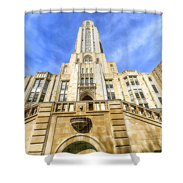 Cathedral Of Learning Shower Curtain