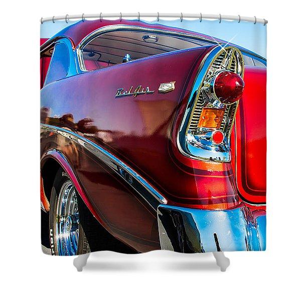 56 Chevy Bel Air Shower Curtain