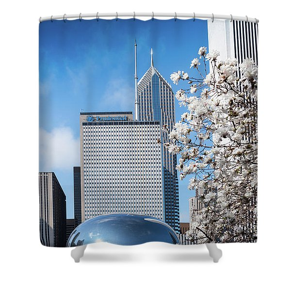 Chicago Bean Millenium Park Shower Curtain