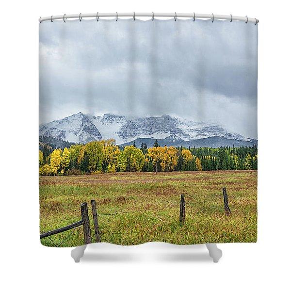 Colorado Fall Foliage Shower Curtain