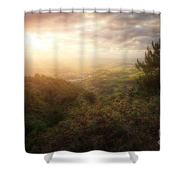 Countryside Landscape Shower Curtain