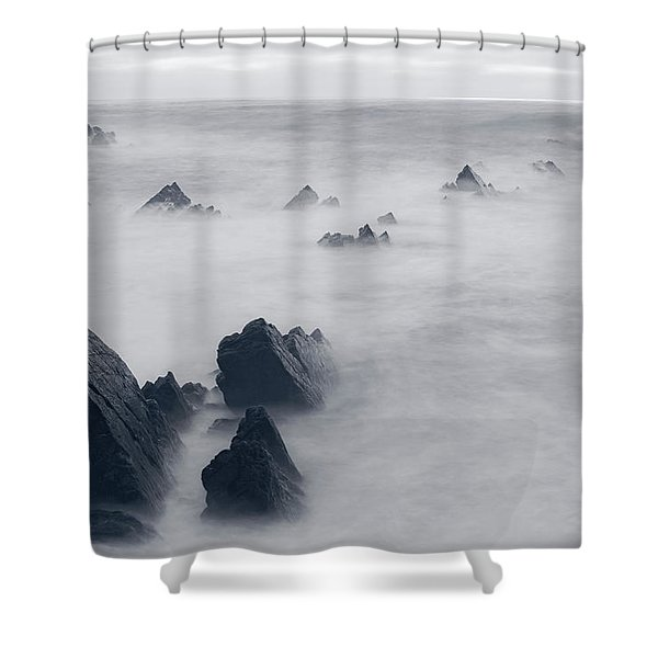 Hartland Quay - England Shower Curtain
