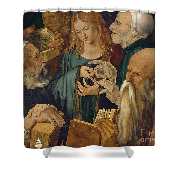 Jesus Among The Doctors Shower Curtain