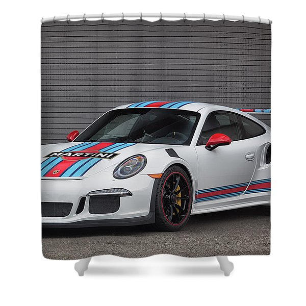 #martini #porsche 911 #gt3rs #print Shower Curtain