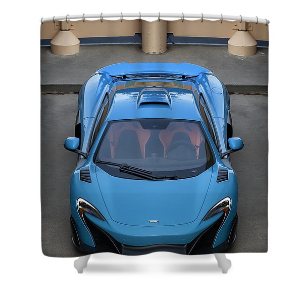 #mclaren #675lt #print Shower Curtain
