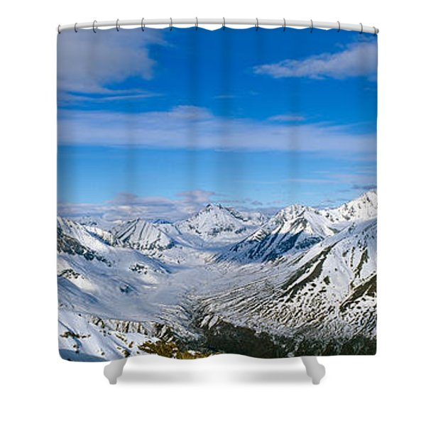 Mountains And Glaciers In Wrangell-st Shower Curtain