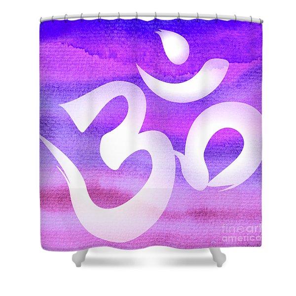 Om Symbol. Light Purple Pastels Shower Curtain