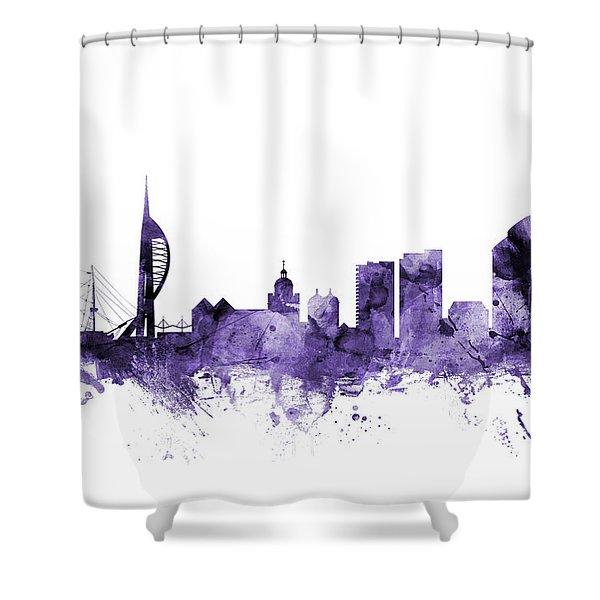 Portsmouth England Skyline Shower Curtain